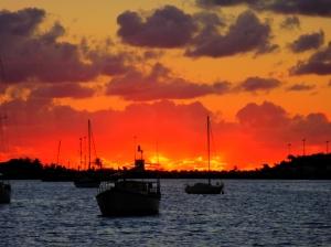 Sunset in the lagoon, Ste. Martin, FWI