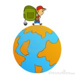 cartoon-travel-man-backpack-around-world-19325835